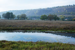 Pond in the countryside in autumn Royalty Free Stock Photography