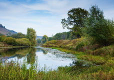 Pond in the countryside in autumn Royalty Free Stock Image