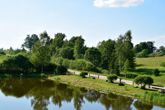Pond at countryside. Royalty Free Stock Photography