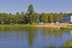 Pond in Dmitrov Stock Images