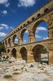 Pond du Gard. Roman aqueduct transformed into bridge; France Royalty Free Stock Photos