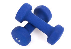 3 pond dumbells Stock Foto's