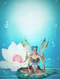 Pond fairy Royalty Free Stock Photos