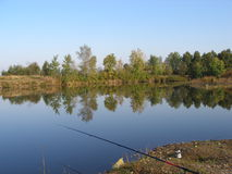 Pond for fishing Royalty Free Stock Photo