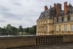 The pond of Fontainebleau Palace Stock Images