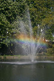 Pond with fountain, Germany Royalty Free Stock Photo