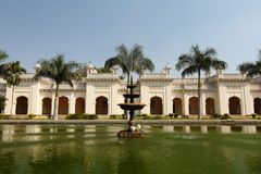 Pond and fountain at the Grand Chowmahalla Palace Stock Photo