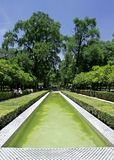 Pond and Fountain in Seville Garden Royalty Free Stock Photography
