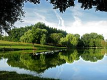 Pond in France Royalty Free Stock Image