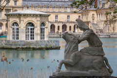 Pond in front of Fontainebleau Stock Photography