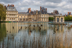 Pond in front of Fontainebleau Stock Photo