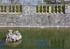 Pond in a Garden Stock Photography