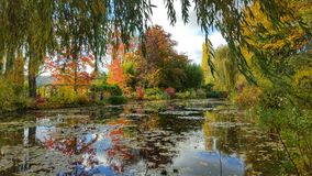The pond garden of monet, giverny, France Stock Photos