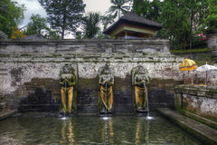 Pond at Goa Gajah Temple, Bali, Indonesia Royalty Free Stock Photography