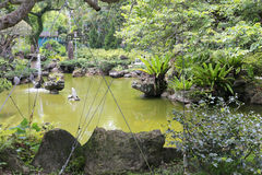 Pond of grandee. Grandee ( shilin official residence ) was once chiang kai-shek and song meiling couple residence in taiwan, it is also the first ecological park Royalty Free Stock Images