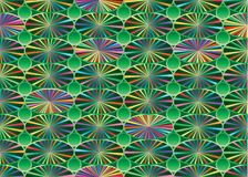 Pond green colorful ray connect seamless pattern Royalty Free Stock Photo