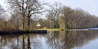 Pond of Gué de Selle in France Royalty Free Stock Photography