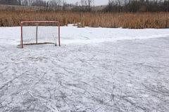 Pond Hockey royalty free stock image