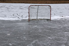 Pond Hockey Net Stock Photography