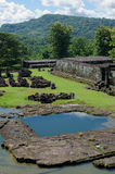 The pond inside ratu boko palace complex Royalty Free Stock Photos