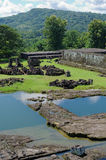 The pond inside ratu boko palace complex Stock Images