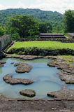 The pond inside ratu boko palace complex Royalty Free Stock Images