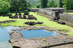 The pond inside ratu boko palace complex Stock Photo