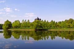 Pond in Izmailovo Stock Photo