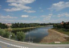 Pond Jordan in city Tabor in Czech Republic Royalty Free Stock Photos