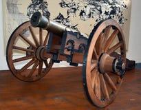 1-pond kanon op een kanonvervoer Royalty-vrije Stock Foto's