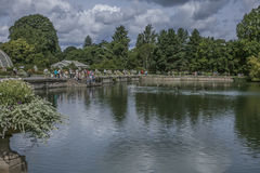 The pond at Kew Gardens and the ducks. stock photography
