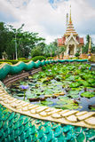 Pond of lotus in front of crematorium Stock Image
