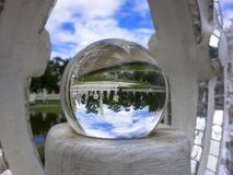 Pond in Magic Ball of White Temple. Stock Image