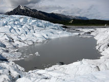 Pond at Matanuska Glacier, Alaska (USA) Royalty Free Stock Photos