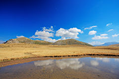 Pond in Mavrovo region Royalty Free Stock Photo