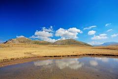 Pond in Mavrovo region Royalty Free Stock Photo