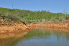 Pond with mineral water on the mountain Stock Image