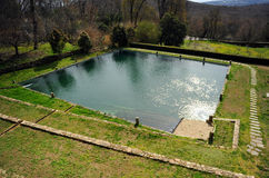The pond of the Monastery of Yuste, province of Caceres, Spain Royalty Free Stock Photography