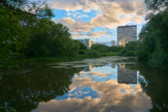 Pond in Moscow Royalty Free Stock Images