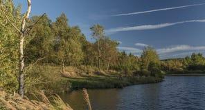 Pond in mountain Krusne hory Stock Photos