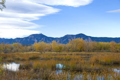 Pond and Mountains Royalty Free Stock Photography