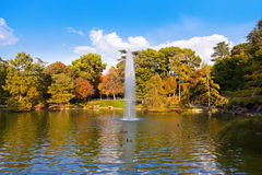 Pond near Crystal Palace - Madrid. Spain Royalty Free Stock Images