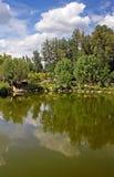 Pond no parque de Feofaniya, Kyiv, Ucrânia Fotos de Stock