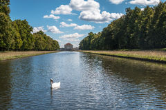 Pond in Nymphenburg Palace, Munich Germany Stock Photo