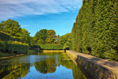 Pond in Oliwa. A pond in the park at Oliwa, Poland Royalty Free Stock Photo