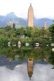 Pond and pagodas Stock Photo