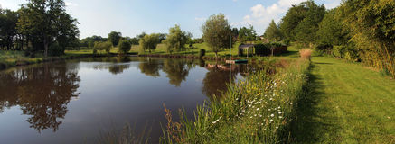 Pond panorama Royalty Free Stock Photography