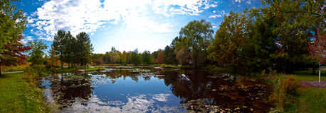 Pond panoramic Royalty Free Stock Image