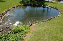 Pond in the Park. A pond in a local recreational park royalty free stock images
