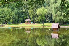 Pond in park Stock Photography